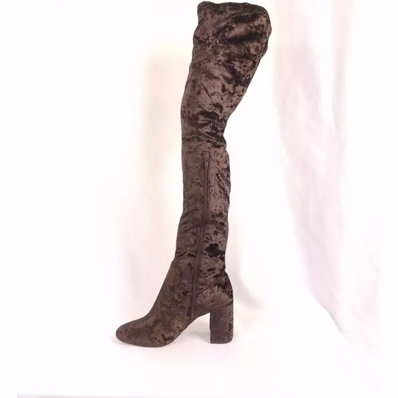 d52a49c7b30 Jeffrey Campbell Crushed Velvet thigh high Boot